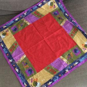 "Japanese 🇯🇵 bandana bento wrap scarf 21"" sq"